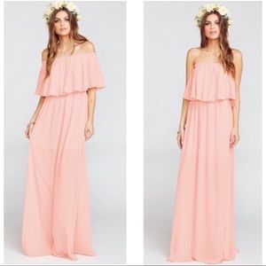 Show Me Your Mumu Frosty Pink Hacienda Maxi Dress